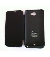 Powercase mit Flip Cover PO-N2 für Samsung Galaxy Note II N7100