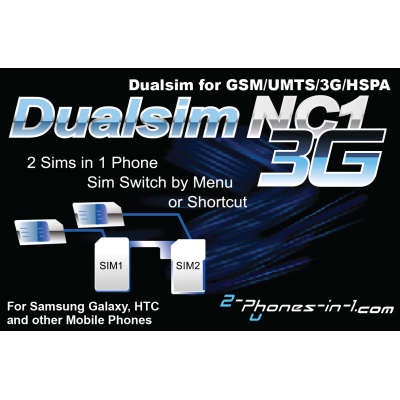 NC1 Dual sim Adapter No Cut 3G für Samsung Galaxy SII