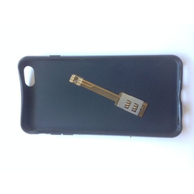 Dual Sim Adapter incl.schwarzem Case I-62CP iPhone 6 Plus