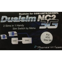 NC2 M8 Dual Sim Adapter HTC One M8