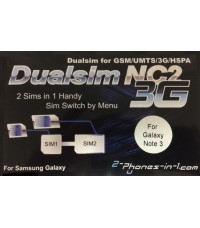 NC2 N3 Dual Sim Adapter Samsung Galaxy Note 3