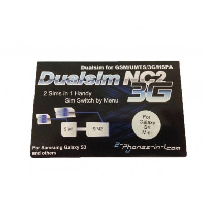 NC2 S4M Dual Sim Adapter Samsung Galaxy S4 Mini