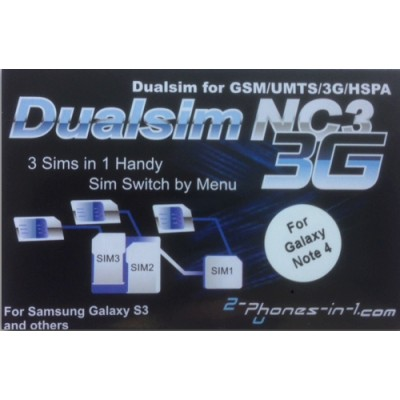NC3 N4  Triple Sim Adapter Galaxy Note 4